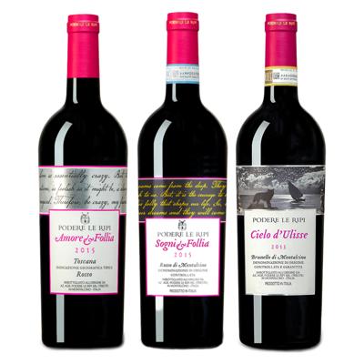 Podere Le Ripi Smagekasse m. 3 forskellige vine